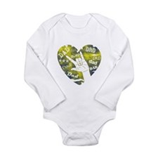 #1 DAD Long Sleeve Infant Bodysuit