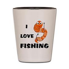 I Love Fishing Shot Glass