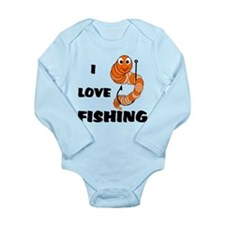 I Love Fishing Long Sleeve Infant Bodysuit