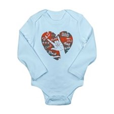 LOVE YOU DAD Long Sleeve Infant Bodysuit
