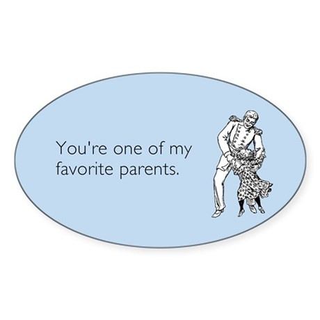 Favorite Parent Sticker (Oval)