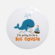 Big Cousin to be - Mod Whale Ornament (Round)