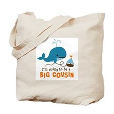 Big Cousin to be - Mod Whale Tote Bag