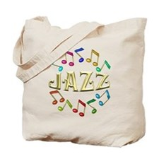 Golden Jazz Tote Bag