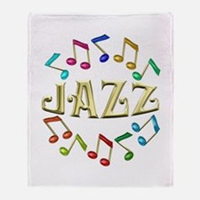 Golden Jazz Throw Blanket