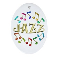 Golden Jazz Ornament (Oval)