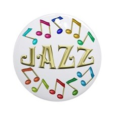 Golden Jazz Ornament (Round)