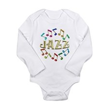 Golden Jazz Long Sleeve Infant Bodysuit