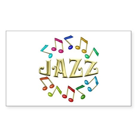 Golden Jazz Sticker (Rectangle)