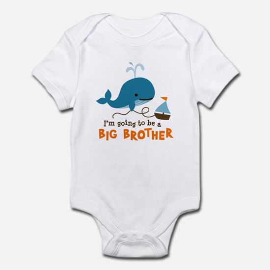Big Brother to be - Mod Whale Infant Bodysuit