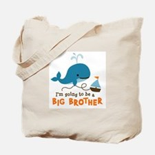Big Brother to be - Mod Whale Tote Bag