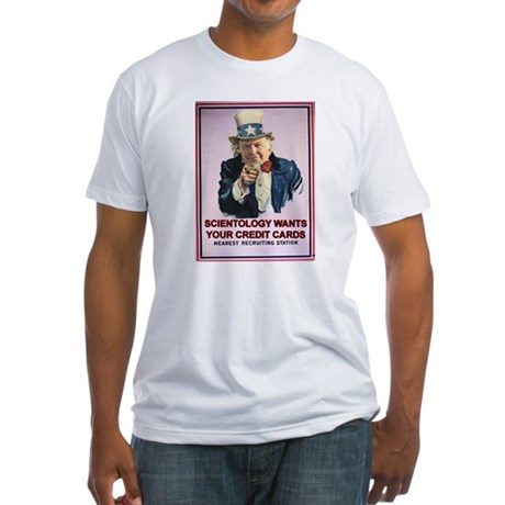 L Ron Hubbard and Scientology Fitted T-Shirt