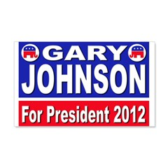 Gary Johnson for President 22x14 Wall Peel