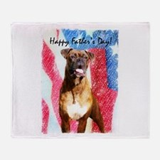 Happy Father's Day Boxer Throw Blanket