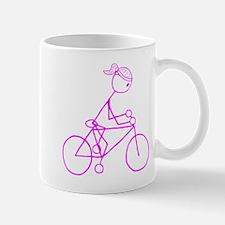 Bicycle Girl- Pink Mug