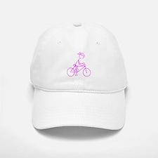 Bicycle Girl- Pink Baseball Baseball Cap