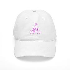 Bicycle Girl- Pink Cap
