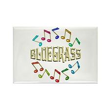 Golden Bluegrass Rectangle Magnet