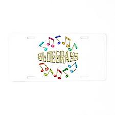 Golden Bluegrass Aluminum License Plate