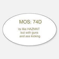 74D Sticker (Oval)
