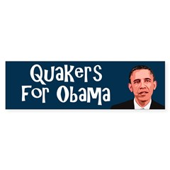 Quakers for Obama bumper sticker