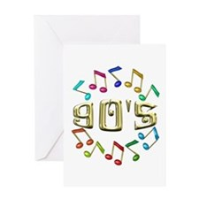 Golden 90s Greeting Card