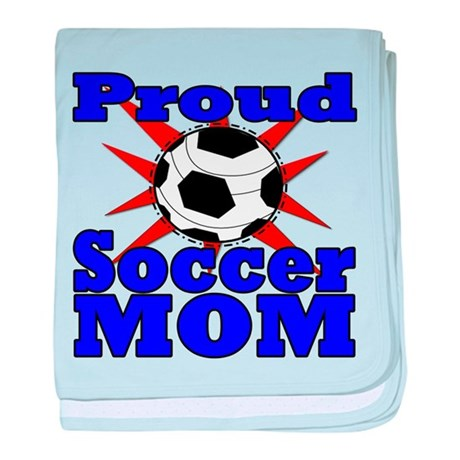 Proud Soccer Mom baby blanket