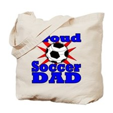 Proud Soccer Dad Tote Bag