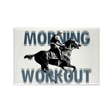 The Morning Workout Rectangle Magnet
