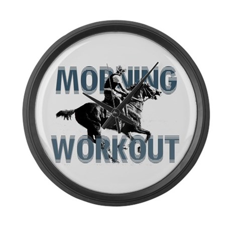 The Morning Workout Large Wall Clock