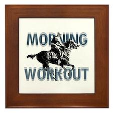 The Morning Workout Framed Tile