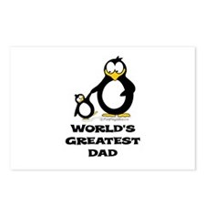 World's Greatest Dad Penguin Postcards (Package of