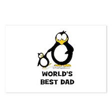 World's Best Dad Penguin Postcards (Package of 8)
