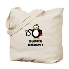 Super Daddy Penguin Tote Bag