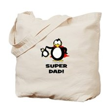 Super Dad Penguin Tote Bag
