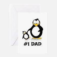Number 1 Dad Penguin Greeting Card