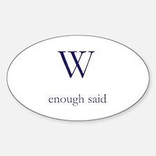 W Sticker (Oval)