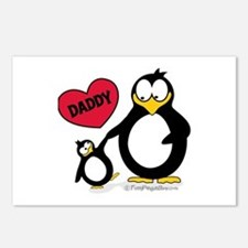 Heart Daddy Penguin Postcards (Package of 8)