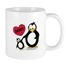 Heart Daddy Penguin Mug