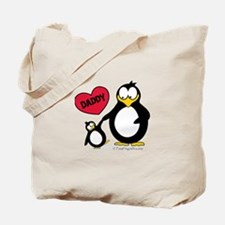 Heart Daddy Penguin Tote Bag