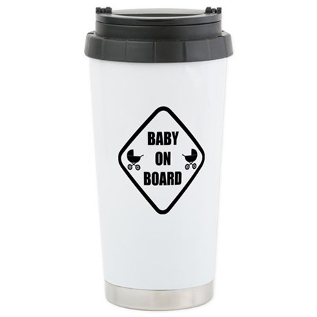 Baby On Board Stroller Stainless Steel Travel Mug