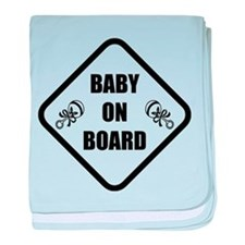 Baby On Board Rattle baby blanket