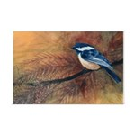 Chickadee Watercolor Mini Poster Print