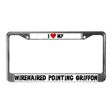 Wirehaired Pointing Griffon License Plate Frame