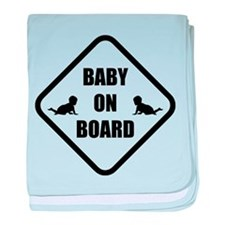 Baby On Board Silhouette baby blanket
