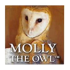 MOLLY THE OWL Tile Coaster