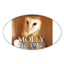 MOLLY THE OWL Sticker (Oval)
