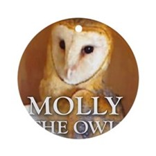 MOLLY THE OWL Ornament (Round)