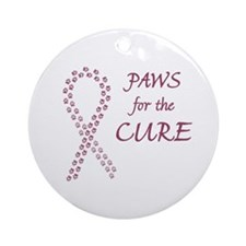 Burgundy Cure Ornament (Round)