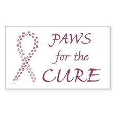 Burgundy Cure Rectangle Decal